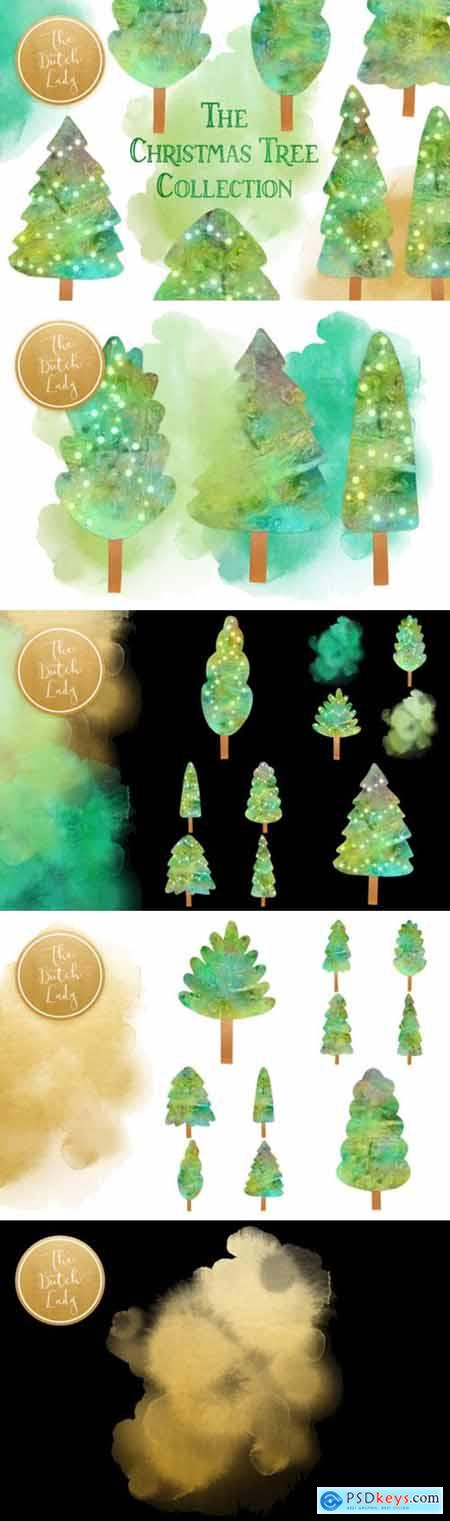 Christmas Tree Collection Clipart Set 1949441