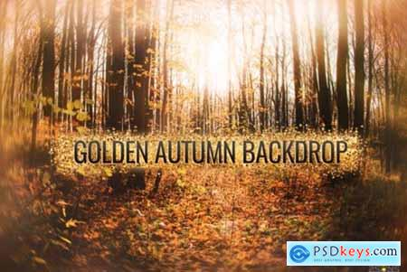 Autumn Golden Backdrop for Photographers 1948986