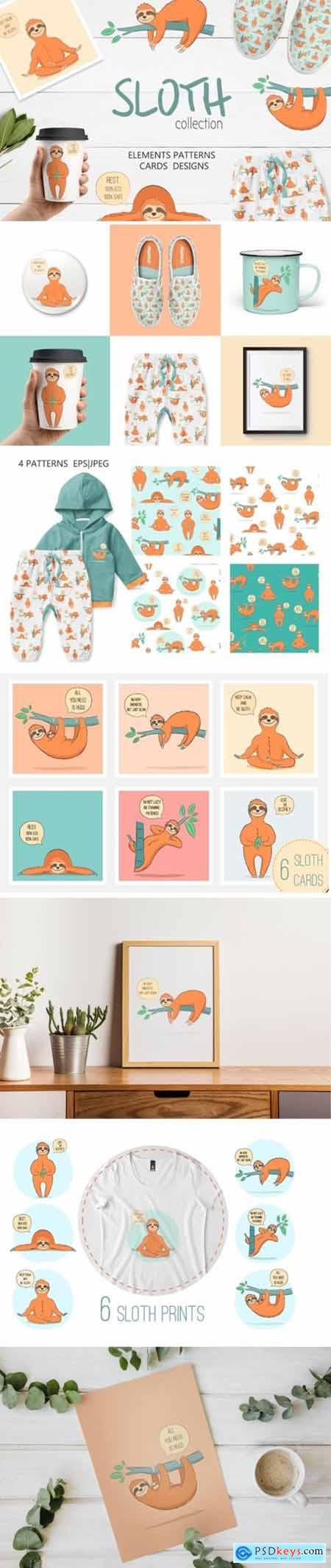 Cute Sloth Collection 1948606
