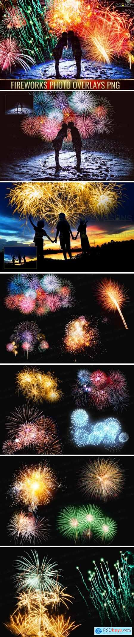 Holiday Fireworks Overlays Png Photoshop 1948952