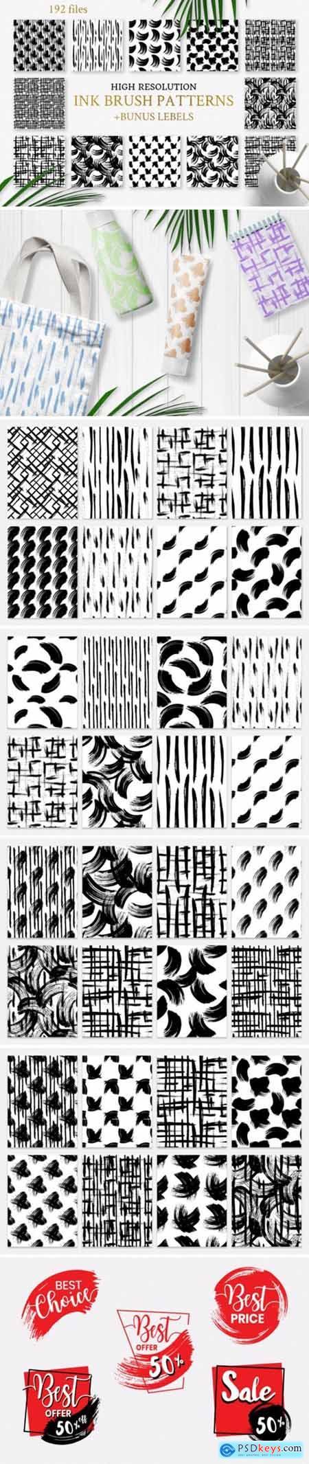 Seamless Patterns Iink Splash Watercolor 1948911