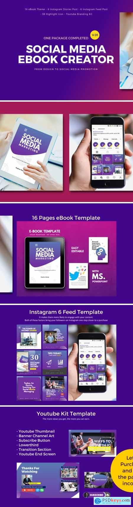 Social Media Marketing EBook Template 1949087
