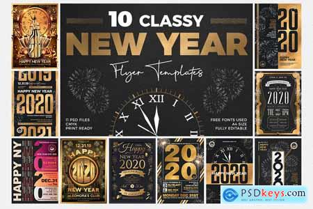 10 New Year Flyer Bundle 4197215