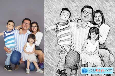 Realistic Pencil Sketch Action 3749046