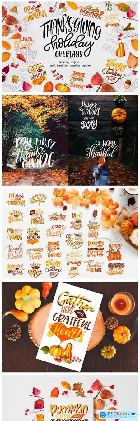 Thanksgiving Holiday Overlay+clipart 1960178