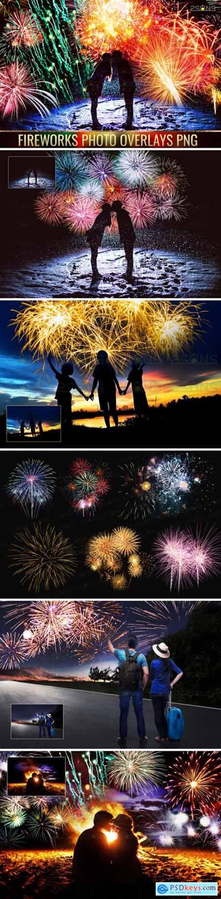 Holiday Fireworks Overlays Png Photoshop 1949567