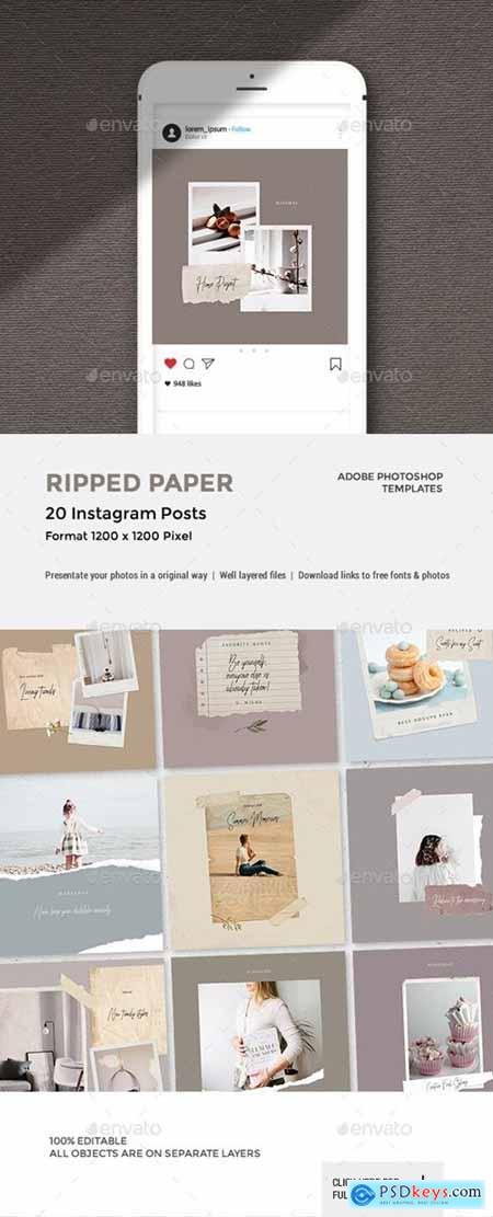 Ripped Paper - Instagram Posts 23657189
