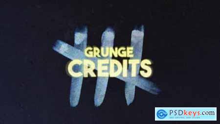 Videohive Grunge Credits 24711804