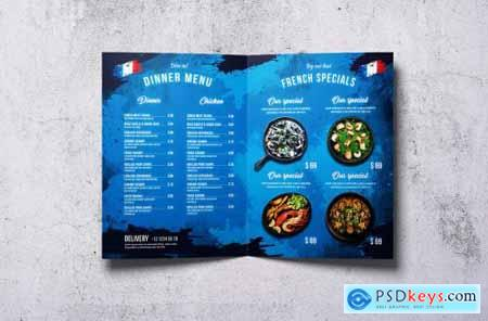 French Cuisine Bifold A4 & US Letter Food Menu
