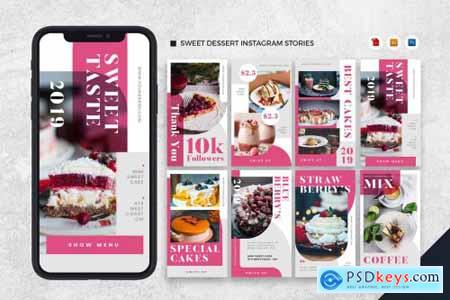 Sweet Dessert Instagram Stories AI and PSD