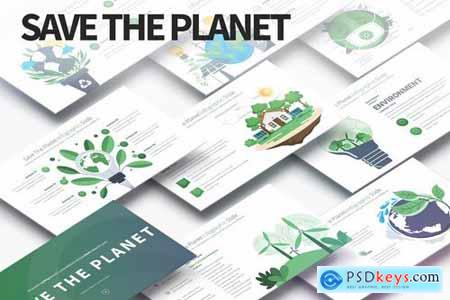 Save The Planet - PowerPoint Infographics Slides