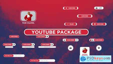VideoHive Opener Youtube Package Button Subscribe 24589949