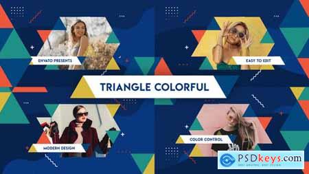 VideoHive Triangle Colorful Opener 24567536