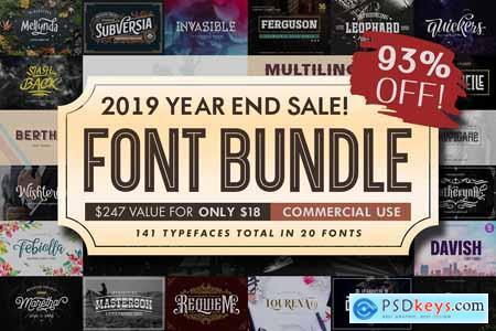Font Bundle 2019 4245088