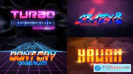 Videohive 80S 4 Pack Logo Intro 23970681