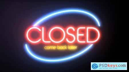 Videohive Pure Glow Neon Logo Intro 23988403