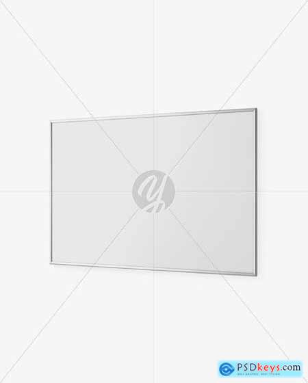 Metallic Frame Poster Mockup 50905