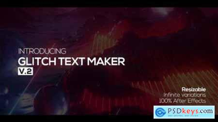 Videohive Glitch Text Maker + Sound FX 21410535