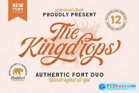 The Kingdrops - Font Duo & Logos 4245463