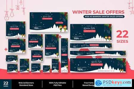 Winter Sale Web Ad Banners