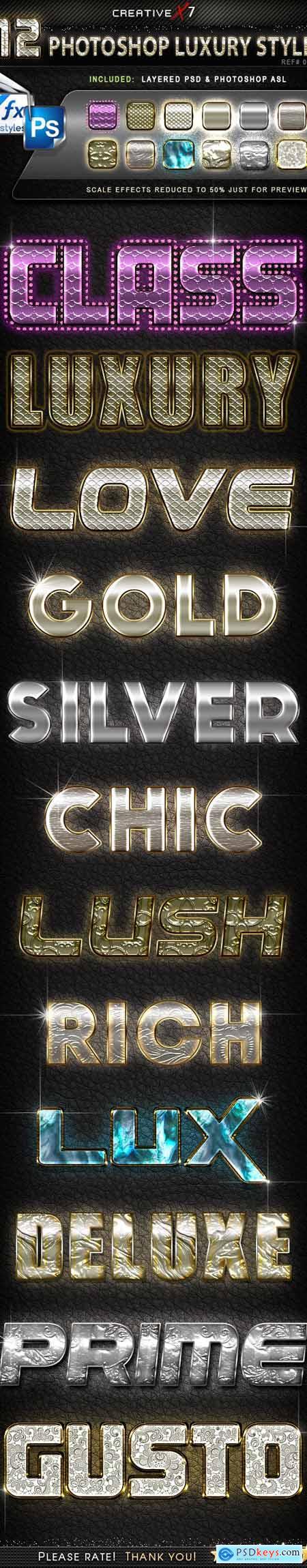 CreativeX7 - 12 Photoshop Luxury Styles 24850944