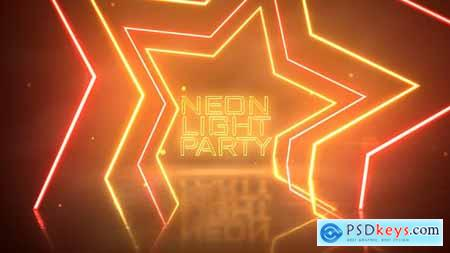 VideoHive Neon Light Party Opener 24969984