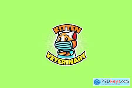 kitten veterinary - Mascot & Esport Logo