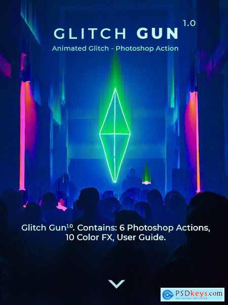 Glitch Gun - Animated Photoshop Action 24641366
