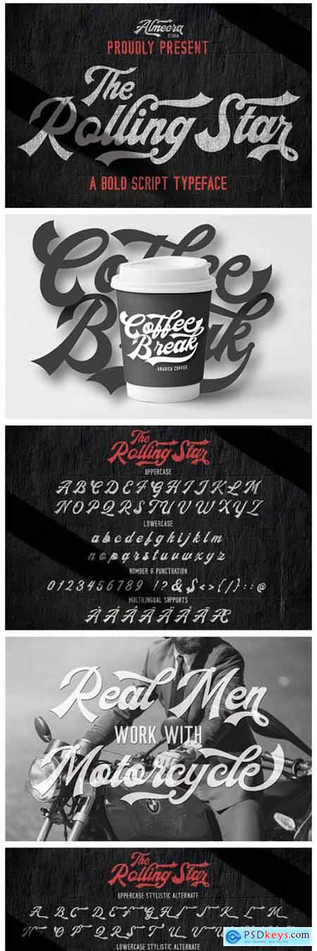 The Rollingstar Font