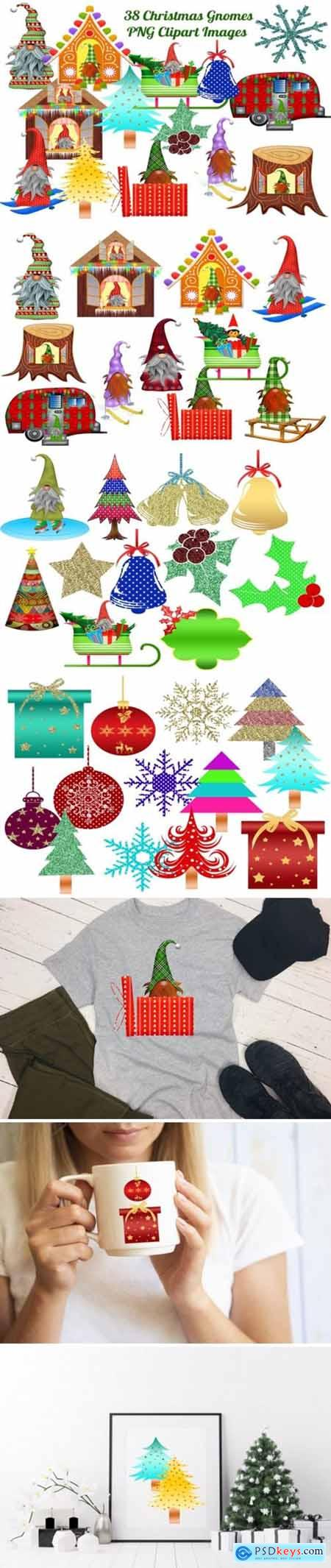 38 Christmas Gnomes Clip Art Images 1977906