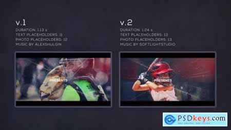 Videohive Sport Parallax Slideshow 22015044