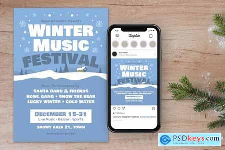 Winter Christmas Music Flyer