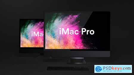 Dark iMac Pro Mockup