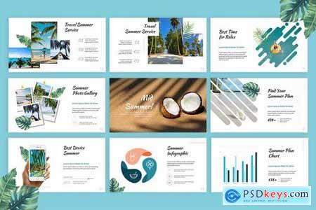 Mid Summer - Traveling Powerpoint Google Slides and Keynote Templates