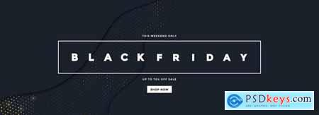 Black Friday banner with golden halftone texture