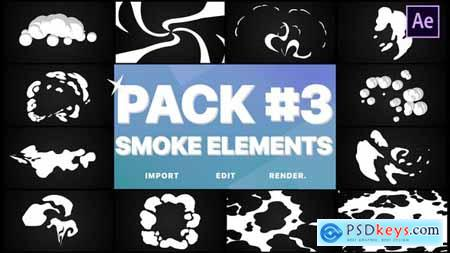 VideoHive Smoke Elements Pack 03 24982090