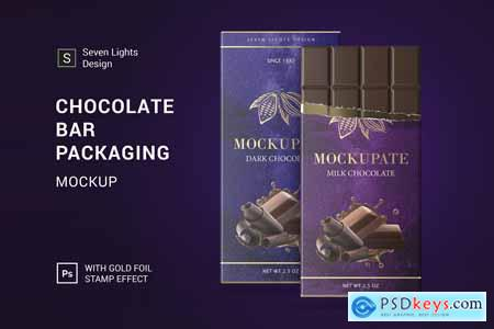 Chocolate Bar Packaging Mockup 4124104
