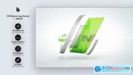 Videohive 3D Ribbons Logo Reveal 24784232