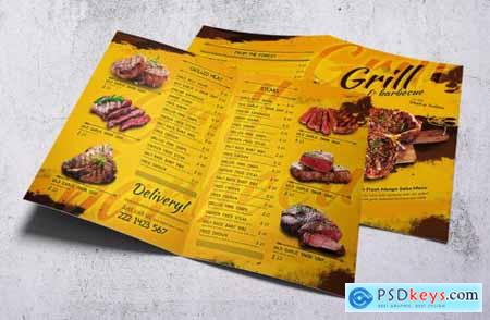 Barbecue Bifold A4 & US Letter Food Menu