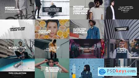 Videohive Trendy Titles Pack 21656495