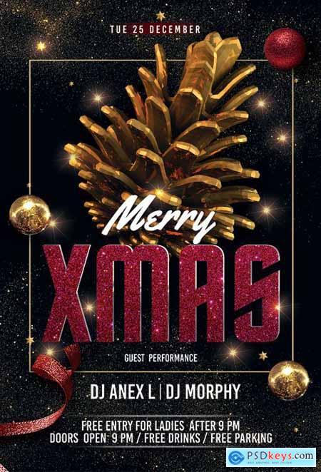 Merry XMAS Night - Premium flyer psd template