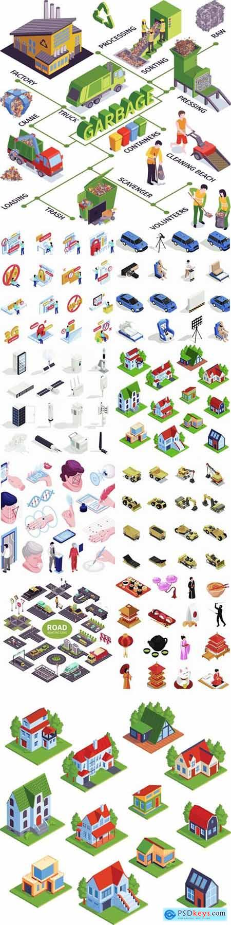 Flat isometric vector 3D concept illustration # 42