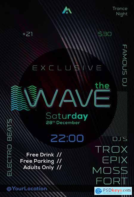 The Wave - Premium flyer psd template