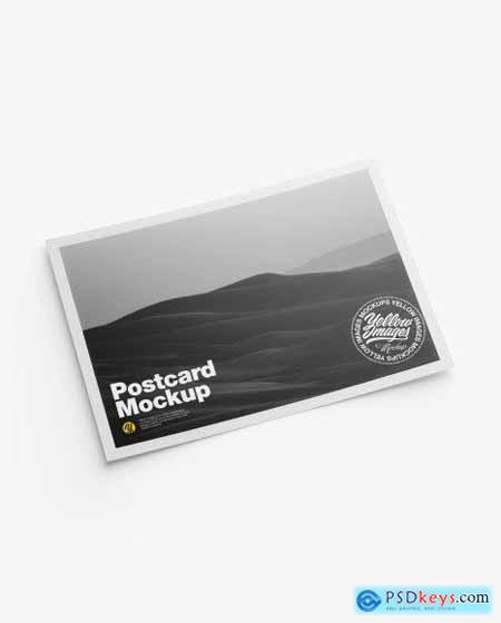 Matte A5 Postcard Mockup 51011