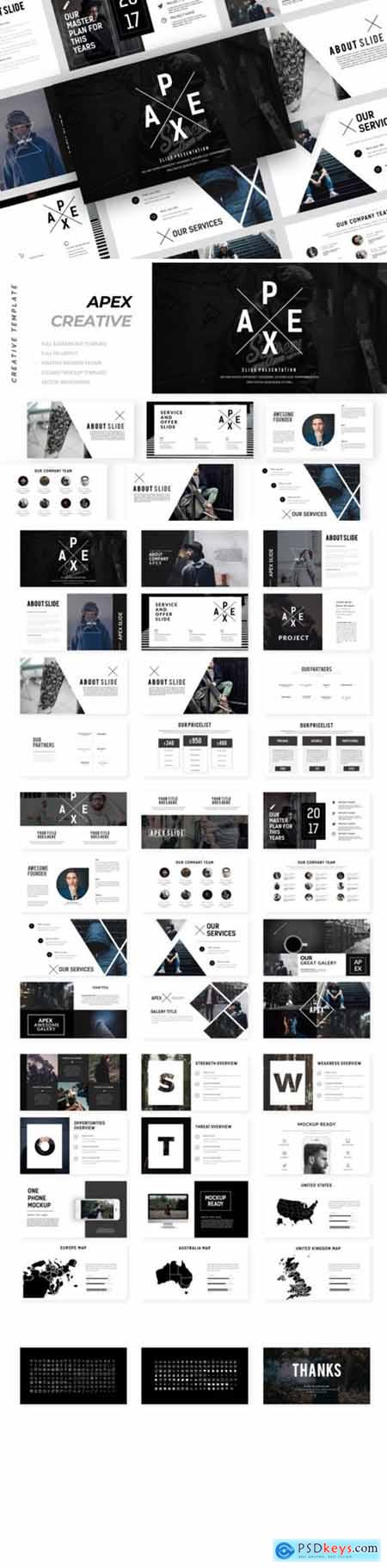 Apex Creative Powerpoint, Keynote and Google Slides Templates