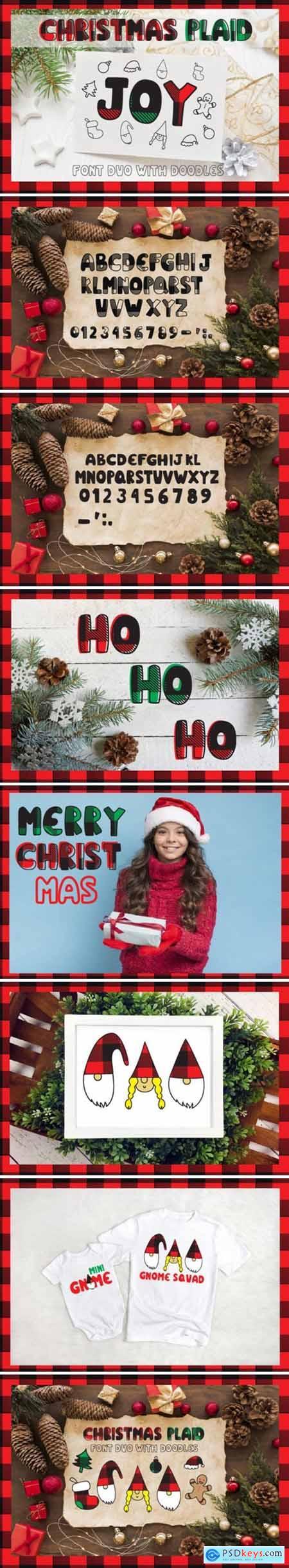 Christmas Plaid Font