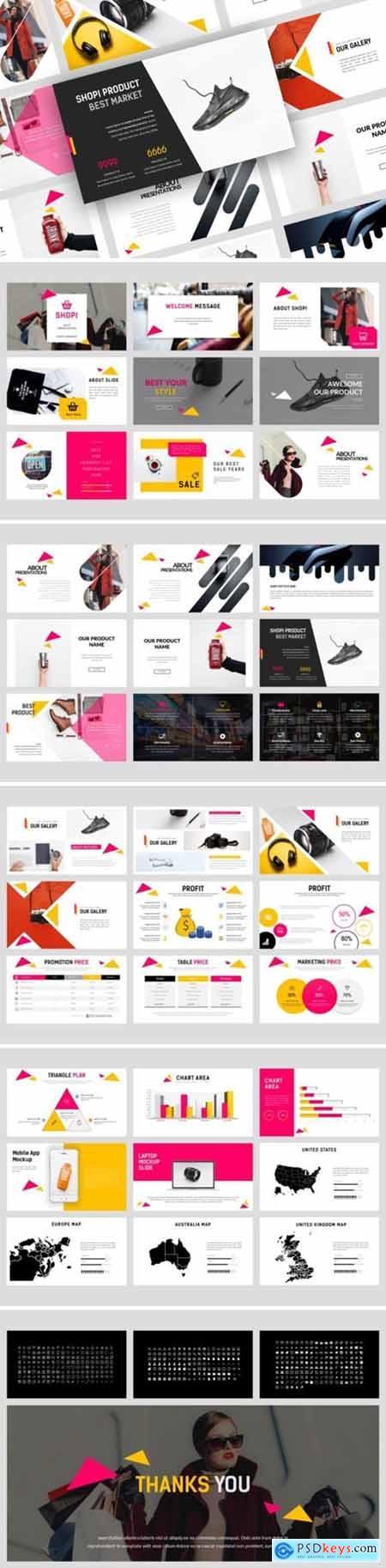 Shopi Market Powerpoint, Keynote and Google Slides Templates