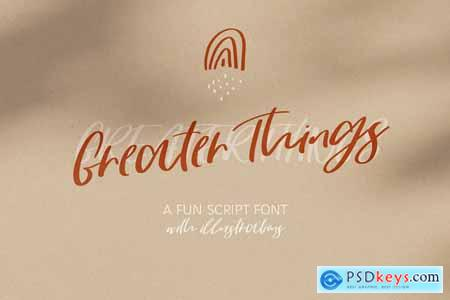 Greater Things Script Font 4110534