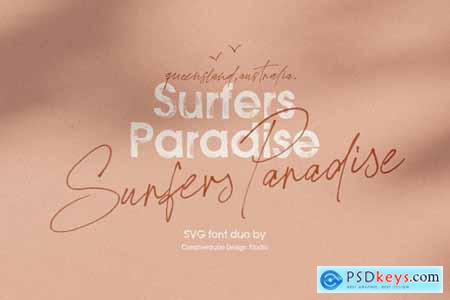Surfers Paradise SVG Font Duo 4018974