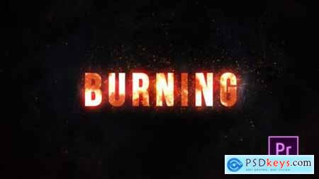 Videohive Burning Fire Title Premiere Pro 25020923